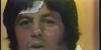 Jerry Lawler, Bill Dundee - Beaten and bruised after Concession Stand Brawl (6-16-79)
