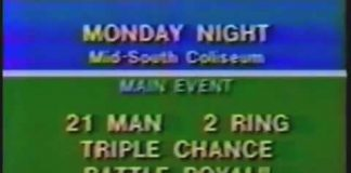 Monday Night's Card for June 18, 1979 - Mid-South Coliseum - CWA Memphis Wrestling