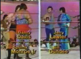 Sputnik Monroe Jr, Danny Davis vs Jerry Lawler, Bill Dundee (6-9-79) Memphis Wrestling