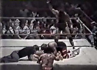 28-Fall Texas Death Match! Jerry Lawler, Dutch Mantell vs Bill Dundee, Buddy Landel (3-24-86)