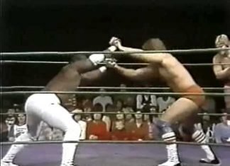 Bobby Eaton, Brown Sugar vs Jacques Rougeau, Terry Taylor (1-1-83) Memphis Wrestling