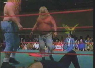 Brian Christopher Breaks Steel Chair On Moondog Spot's Head! (1993) USWA Memphis Wrestling
