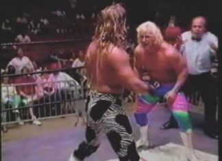 Brian Christopher Spoils Jeff Jarrett vs Shawn Michaels Match - 1993 USWA Memphis Wrestling