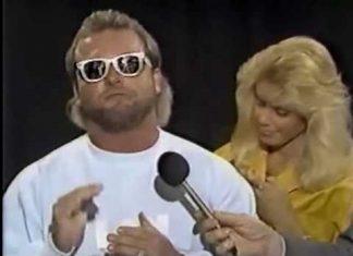 Cute Missy Hyatt Monkeyshines During Eddie Gilbert Promo (1988) Classic Memphis Wrestling