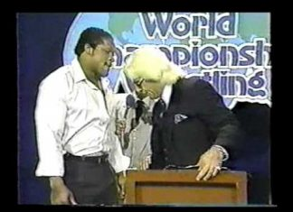 GCW - Ric Flair Tony Atlas Confrontation