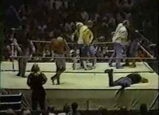 Jerry Lawler, Dusty Rhodes, Magnum TA vs Ole & Arn Anderson, Tully Blanchard - Memphis Wrestling