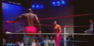 Reggie B Fine w Sweet Georgia Brown vs Bill Dundee w Miss Texas (1-14-95) USWA Main Event