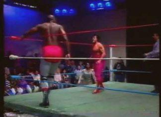 Reggie B Fine w Sweet Georgia Brown vs Bill Dundee w Miss Texas (1-14-95) USWA Main Event