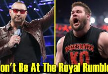 10 Wrestlers That WON'T Be At The Royal Rumble! (2019)