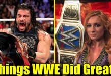 10 Things WWE Actually Did Right This Year! (2018)